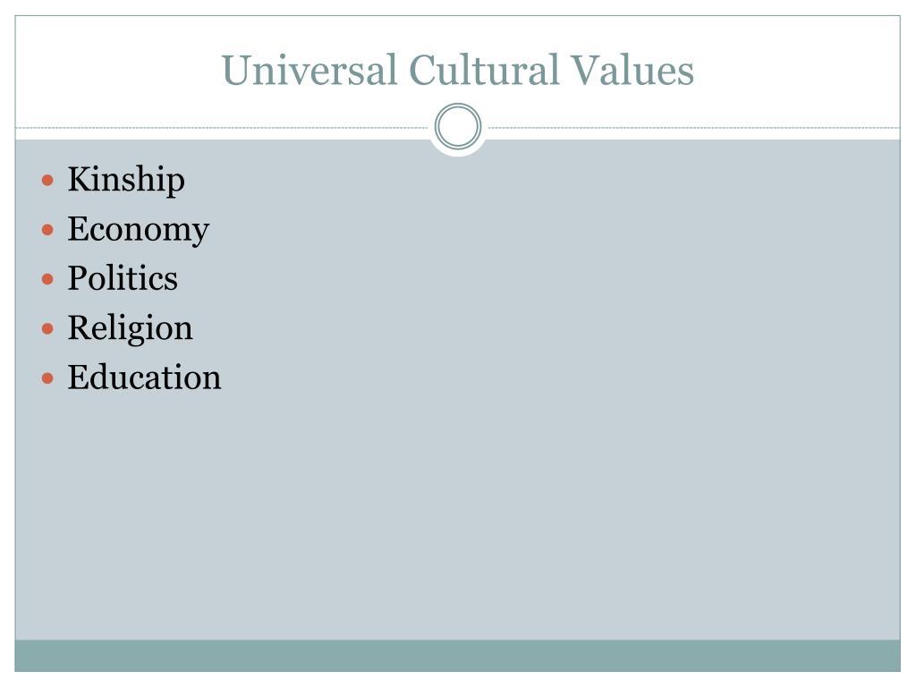 Universal Cultural Values