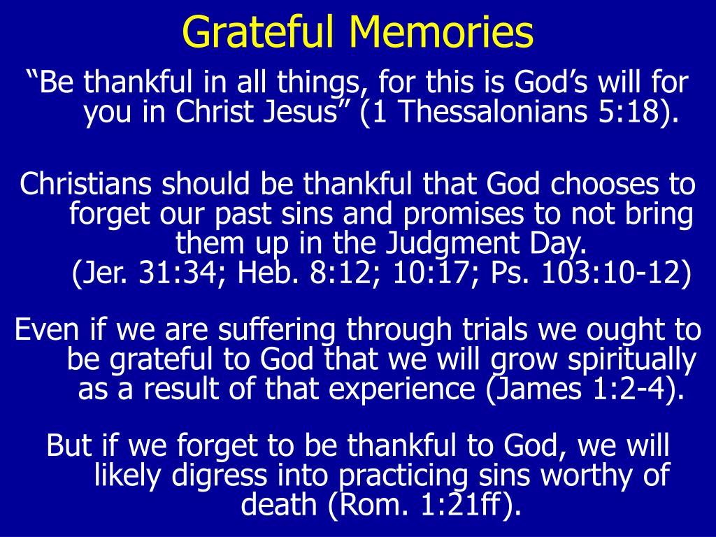 Grateful Memories