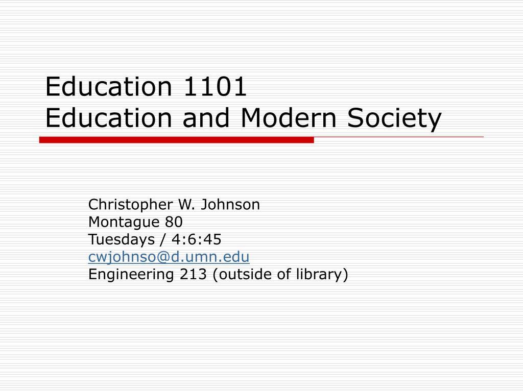 Education 1101