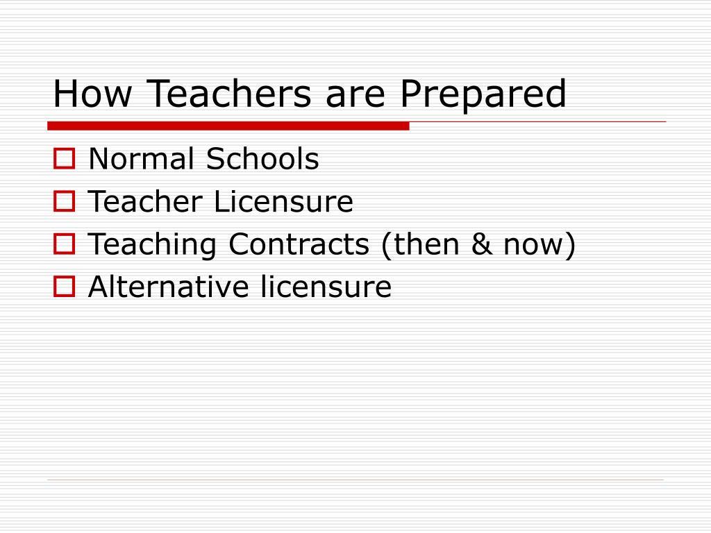How Teachers are Prepared