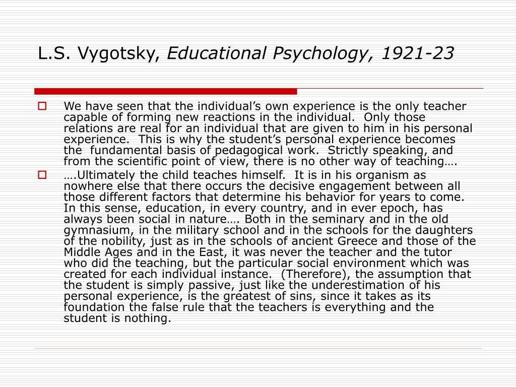 L.S. Vygotsky,