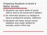preparing students to build a better society