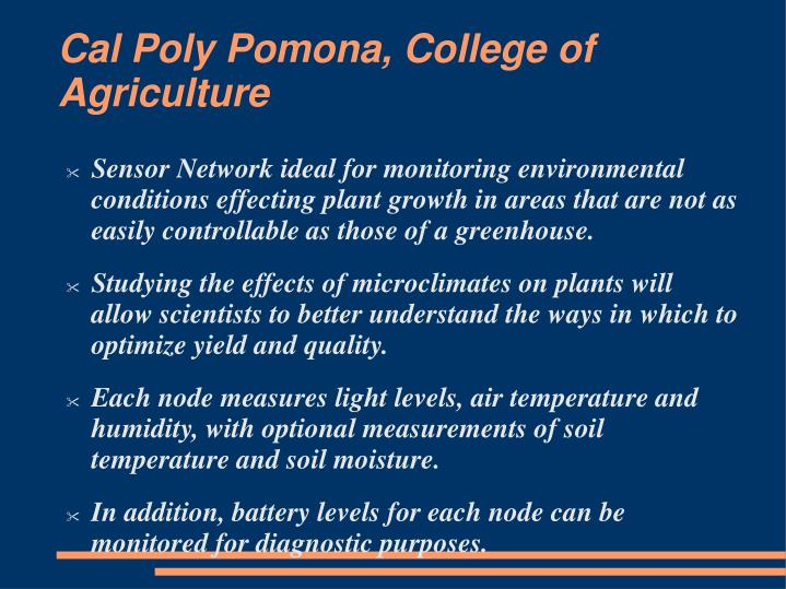 Cal Poly Pomona, College of Agriculture