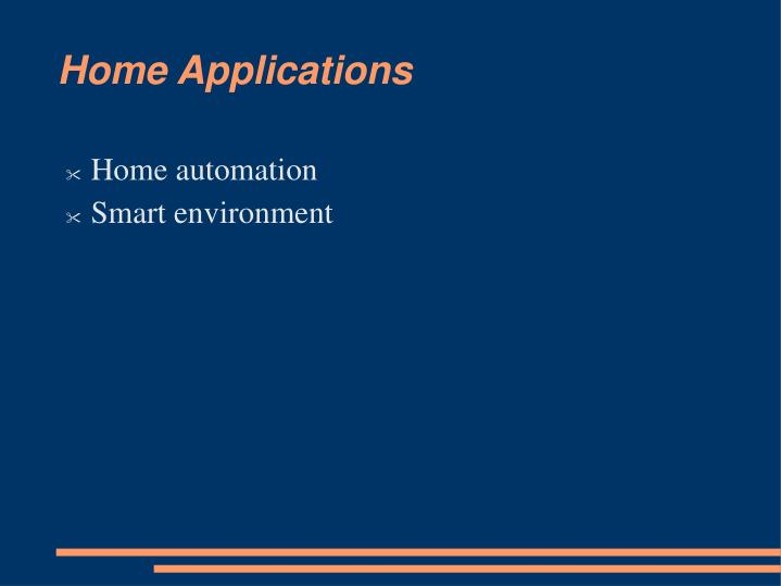 Home Applications