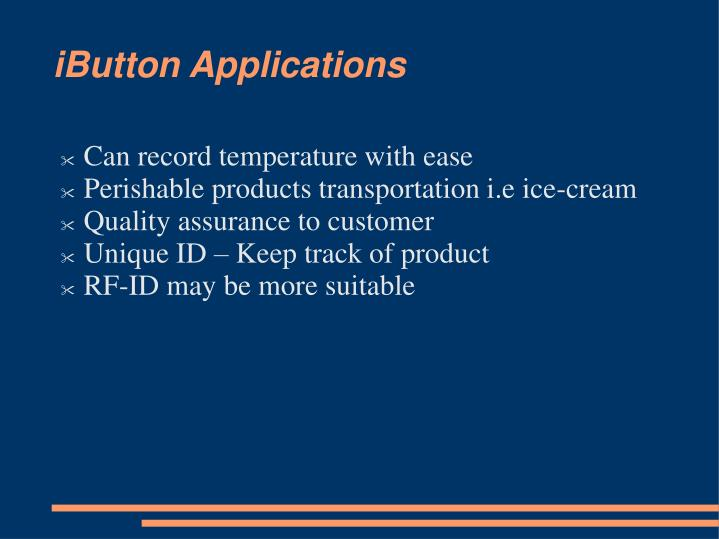 iButton Applications