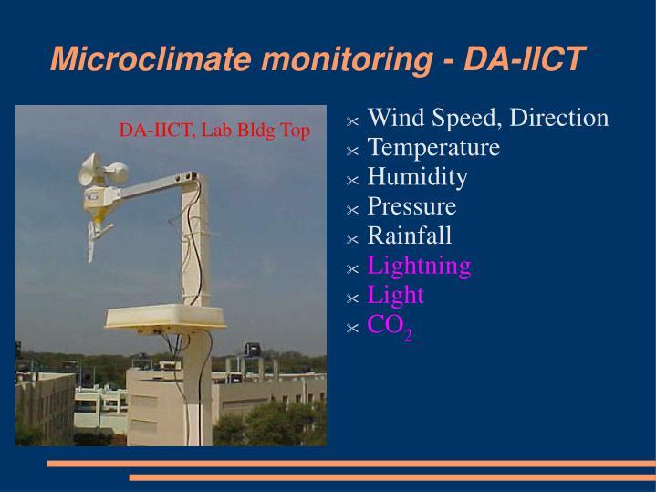 Microclimate monitoring - DA-IICT