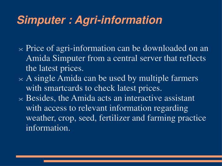 Simputer : Agri-information