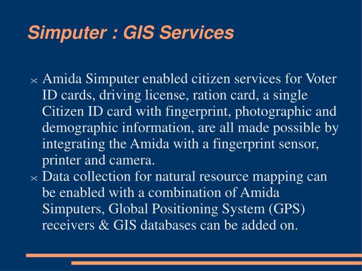 Simputer : GIS Services