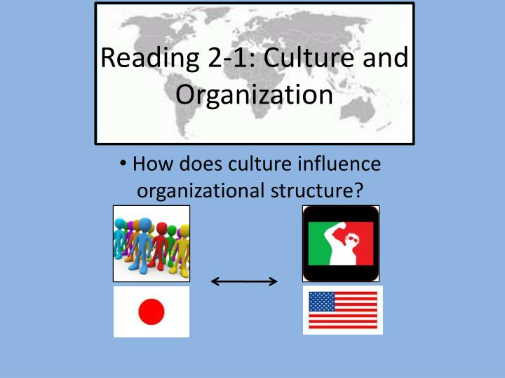 Reading 2 1 culture and organization