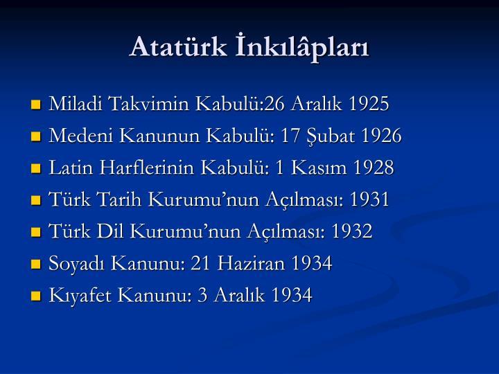 Atatürk İnkılâpları