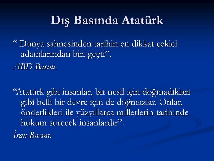 Dış Basında Atatürk
