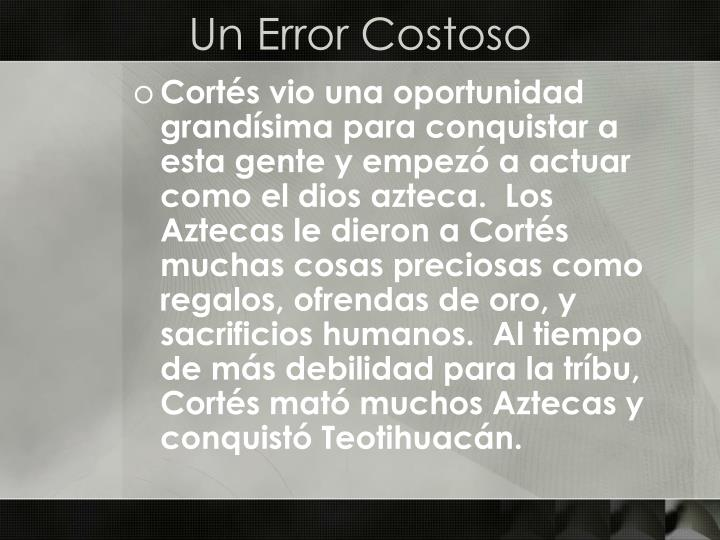Un Error Costoso