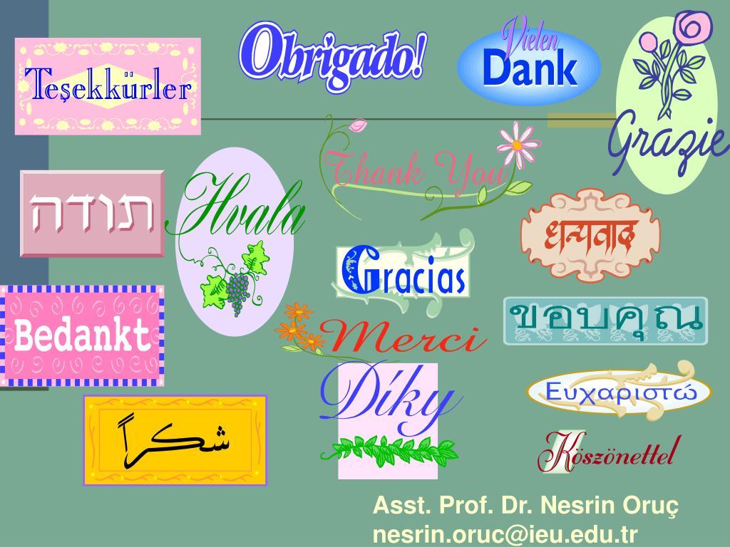 Asst. Prof. Dr. Nesrin Oruç