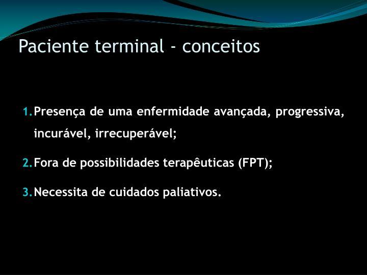 Paciente terminal - conceitos