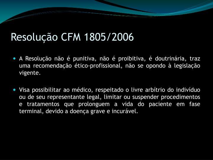 Resolução CFM 1805/2006