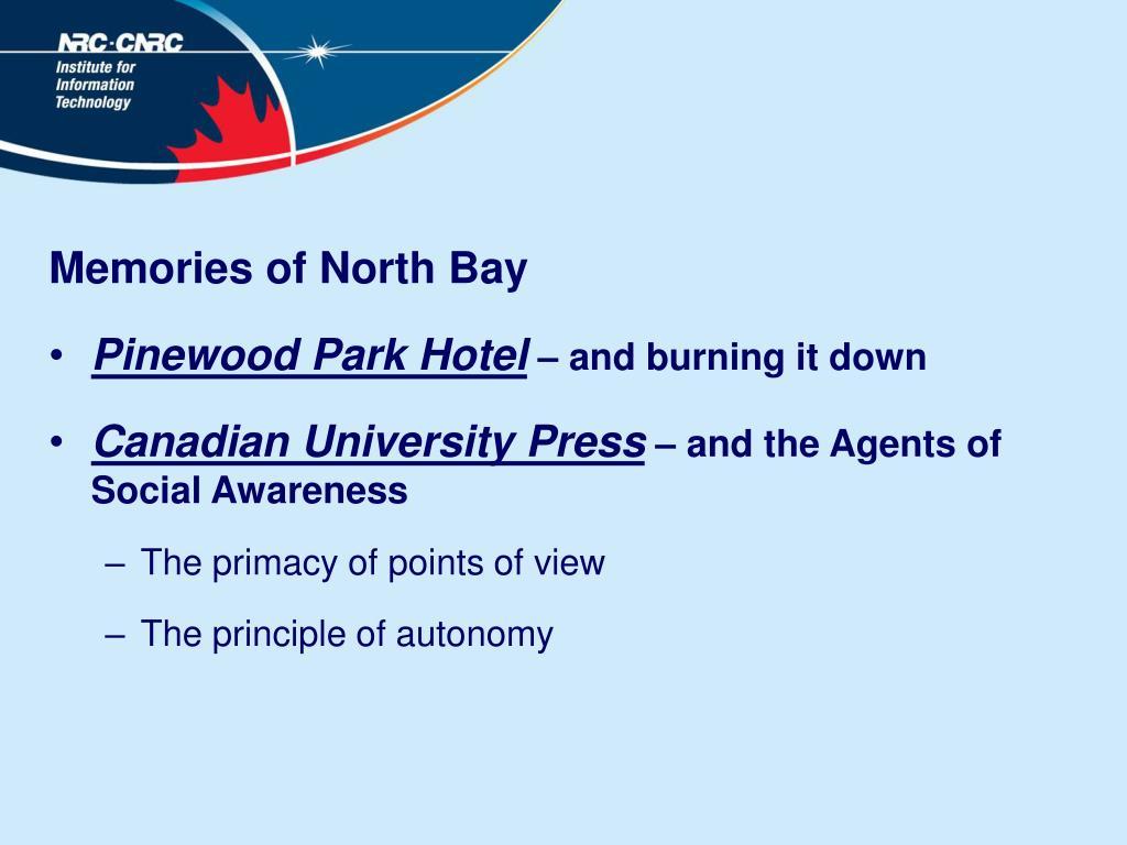 Memories of North Bay