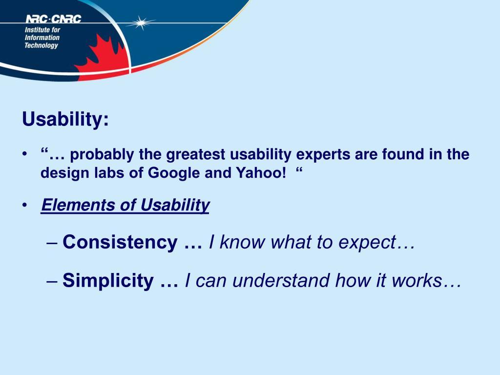 Usability:
