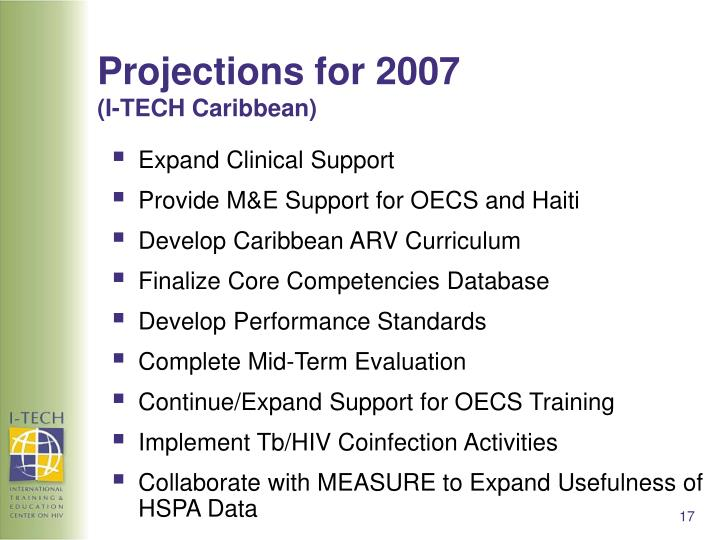 Projections for 2007