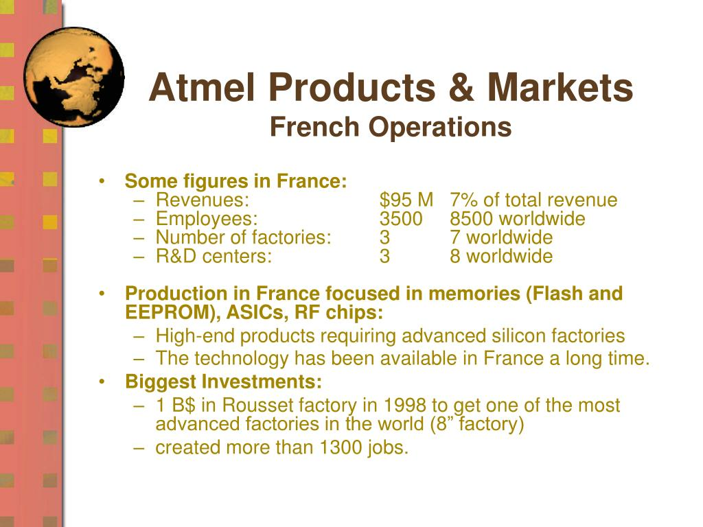 Atmel Products & Markets