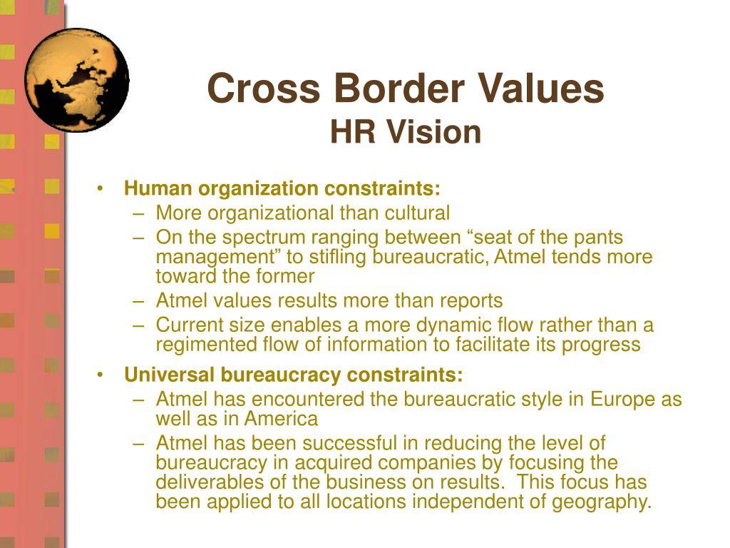 Cross Border Values
