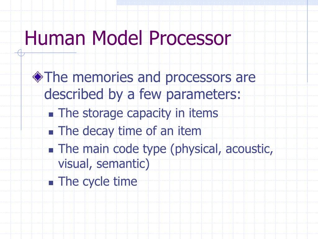 Human Model Processor