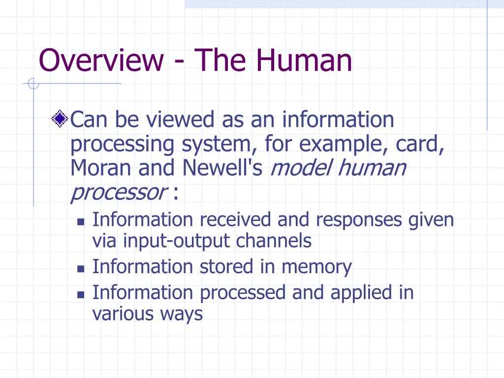 Overview - The Human