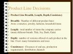 product line decisions21