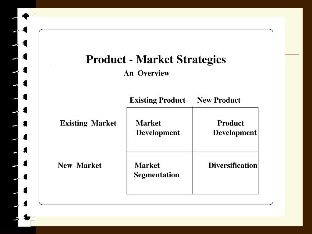 Product - Market Strategies