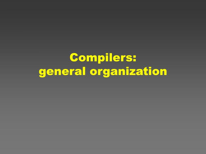 Compilers:
