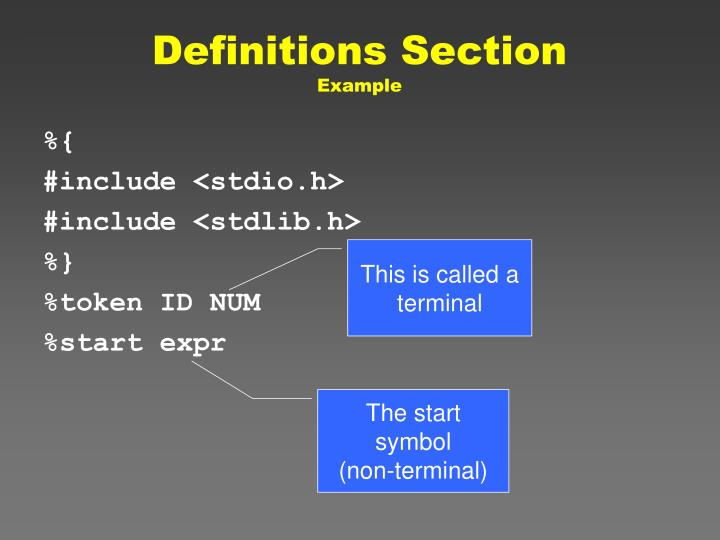Definitions Section