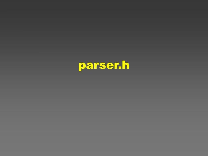 parser.h