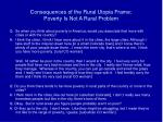 consequences of the rural utopia frame poverty is not a rural problem