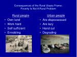 consequences of the rural utopia frame poverty is not a rural problem21