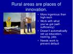rural areas are places of innovation