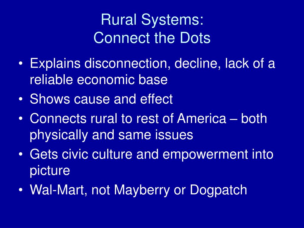 Rural Systems: