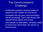 the communications challenge