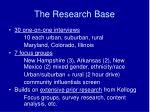 the research base
