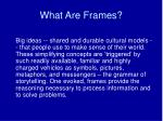 what are frames