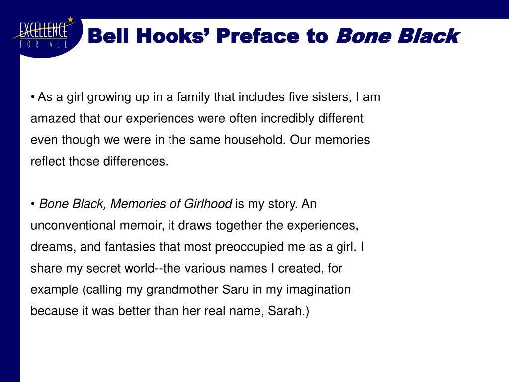 Bell Hooks' Preface to
