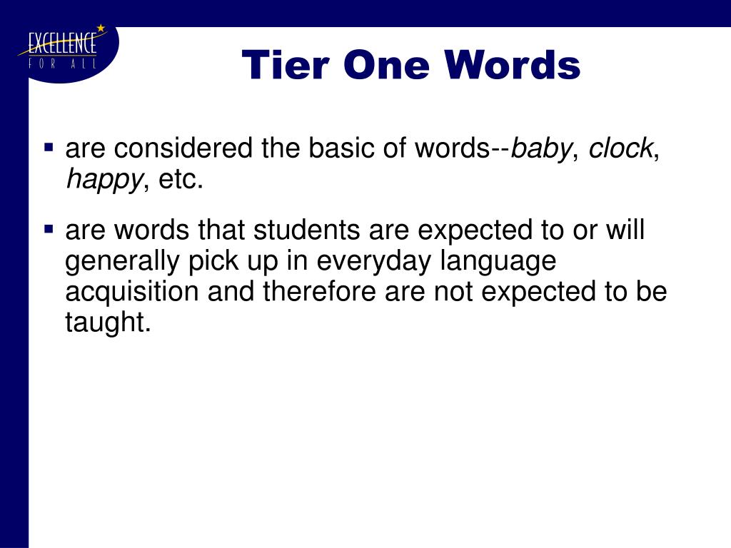 Tier One Words