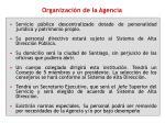 organizaci n de la agencia