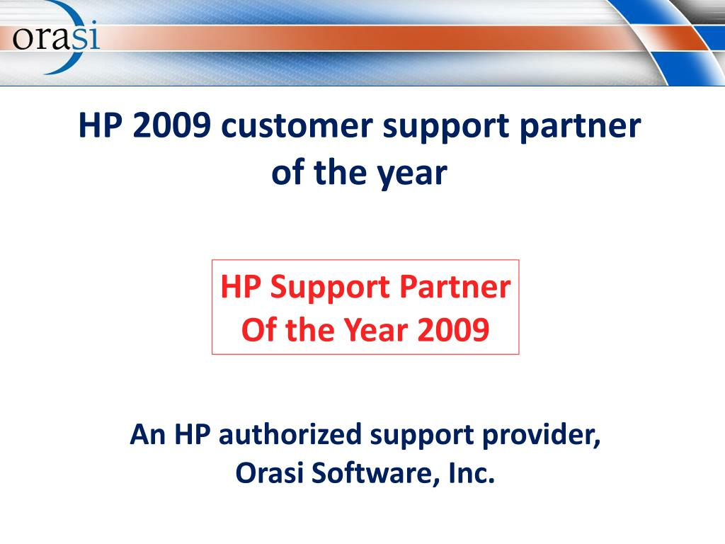 HP 2009 customer support partner