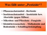 was f llt unter pestizide