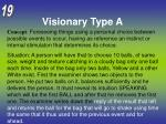 visionary type a