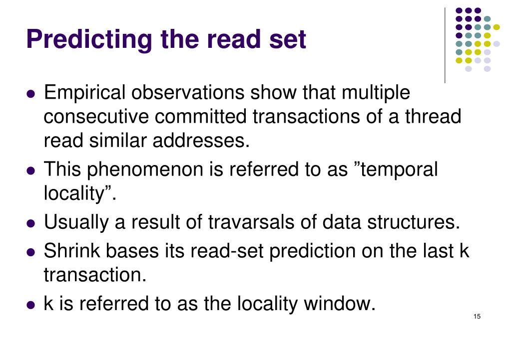 Predicting the read set