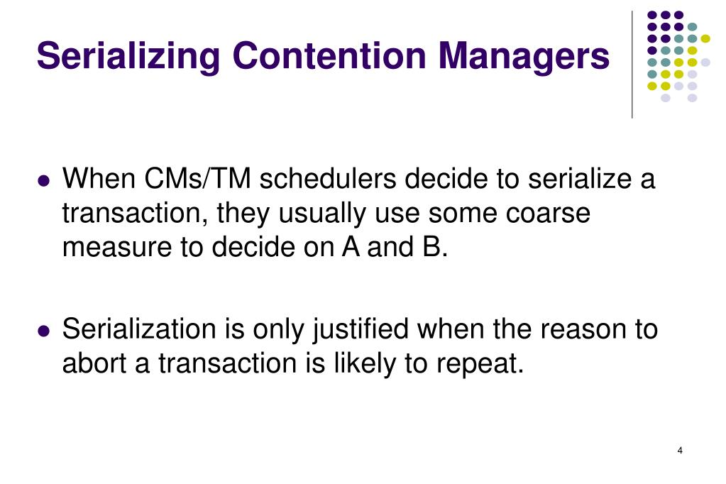 Serializing Contention Managers