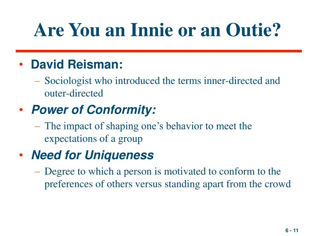 Are You an Innie or an Outie?