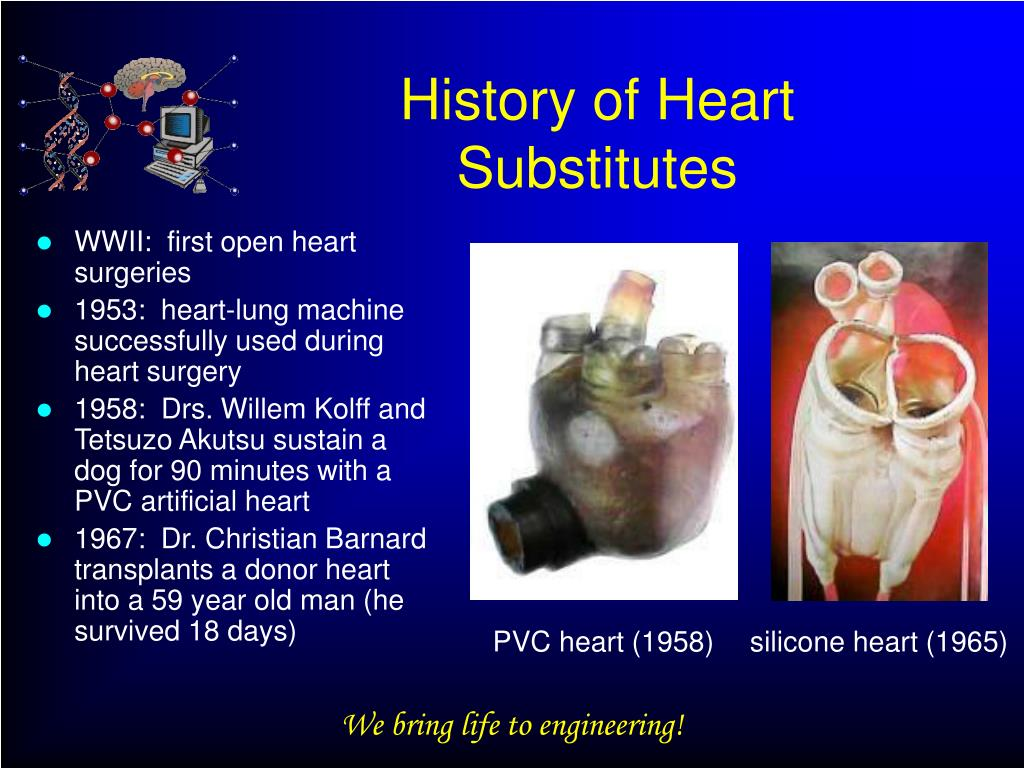 History of Heart Substitutes