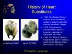 history of heart substitutes7