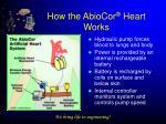 how the abiocor heart works
